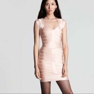 French Connection Bandage dress. Pink - size 0
